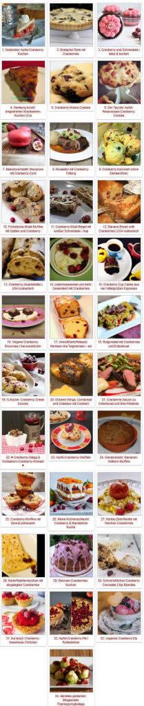 Blogparade Cranberries