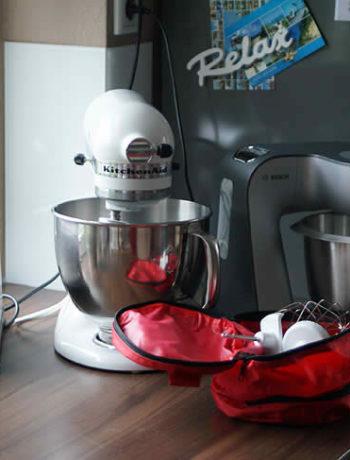 Bosch MUM 56s$0 versus Kitchen Aid, der Versuchsaufbau