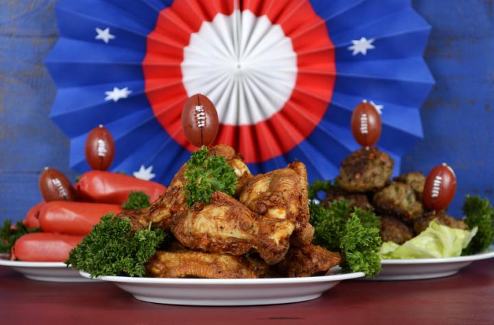 Super Bowl Sunday football party celebration food