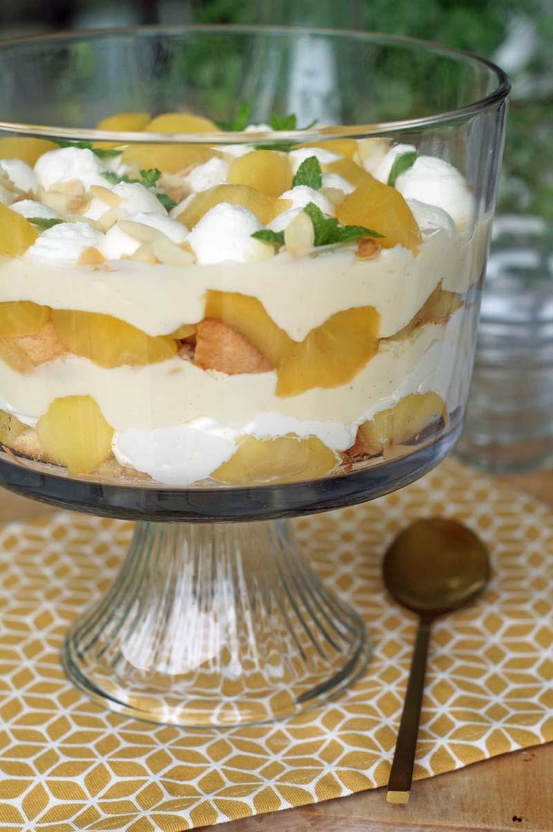 USA-Rezept für einfaches Schichtdessert, Apple Trifle