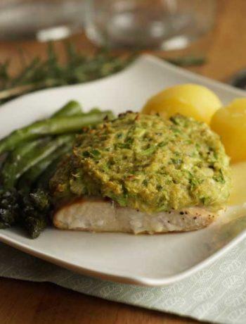 Lachs mit Spargelkruste / Salmon with asparagus crust Rezept