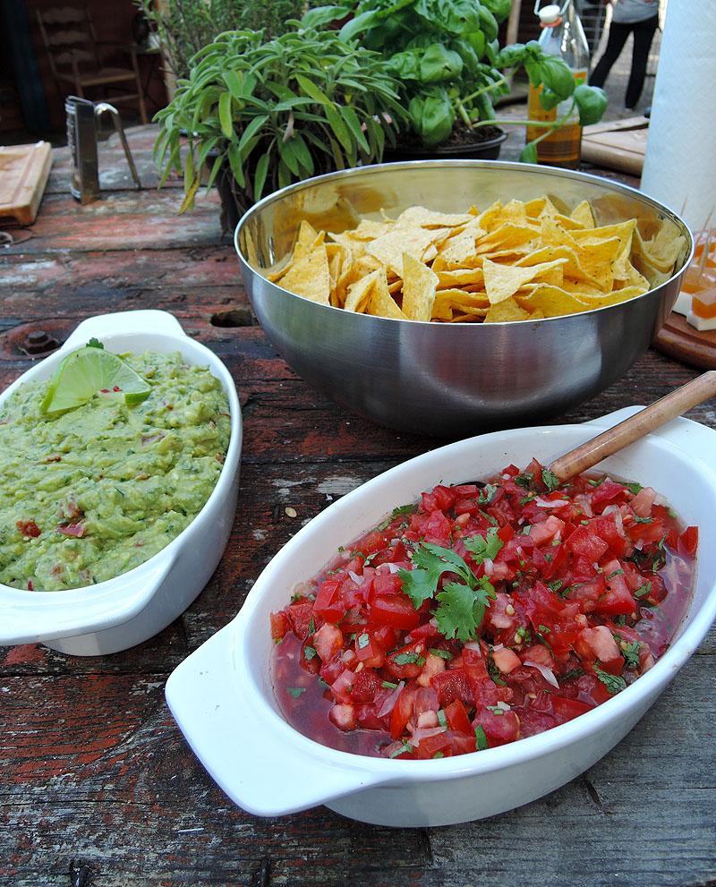 Nachos und Salsas