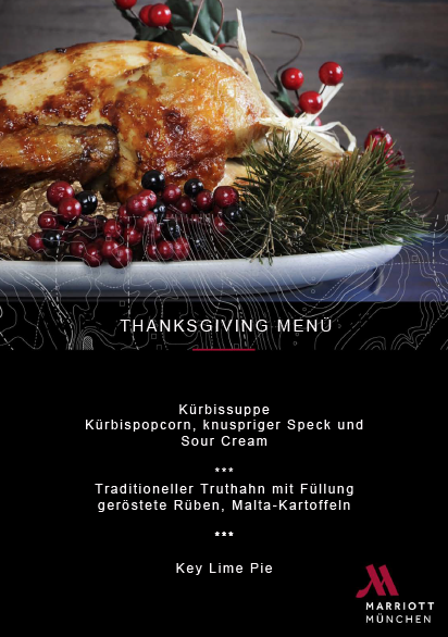 Menüfolge Thanksgiving Marriott