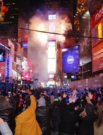 Silvester am Times Square