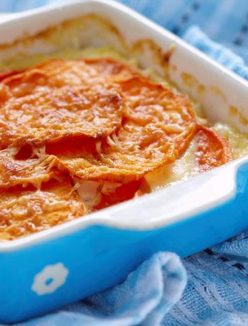 Sweetpotato au gratin