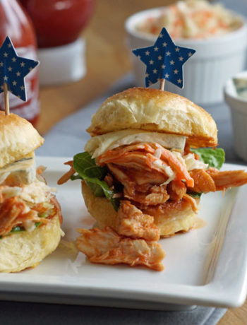 Buffalo Chicken Slider - Mini-Chicken-Burger