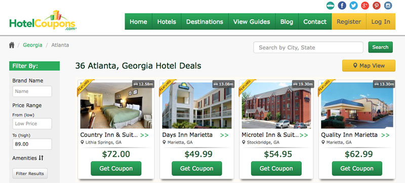 Hoteldiscounts in den USA