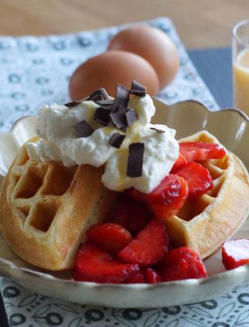 Buttermilk Waffles / Buttermilchwaffeln aus den USA