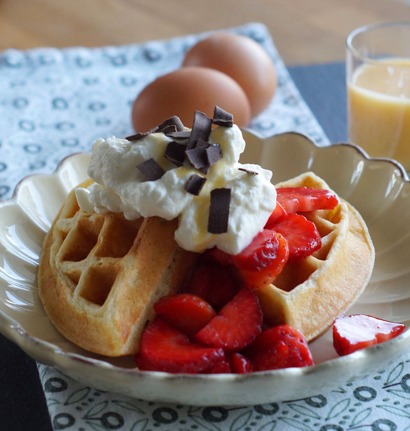 Buttermilk Waffles (Buttermilch-Waffeln)