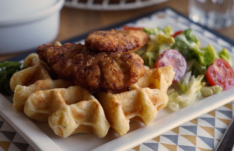 Rezept für Waffle with Chicken / Waffeln mit Huhn