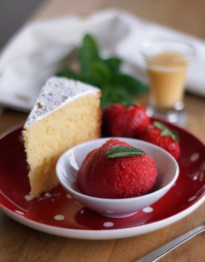 Strawberry Sorbet (ohne Eismaschine)