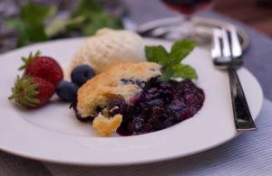 Blueberry Cobbler vom Grill