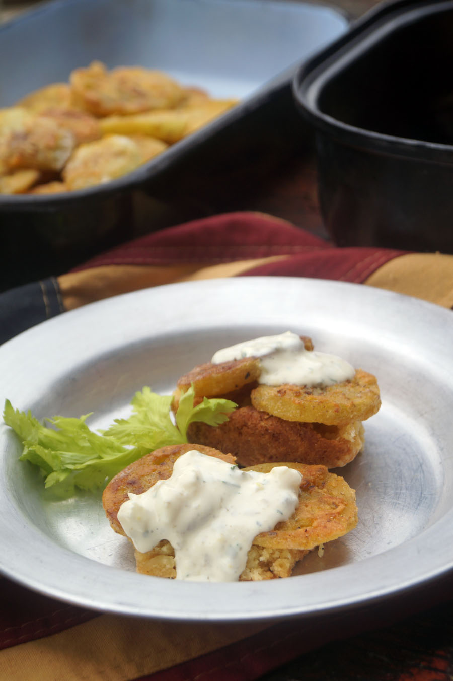 Fried Green Tomatoes mit Remoulade