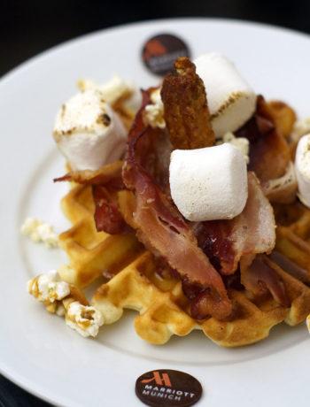 American Breakfast in München - Waffel