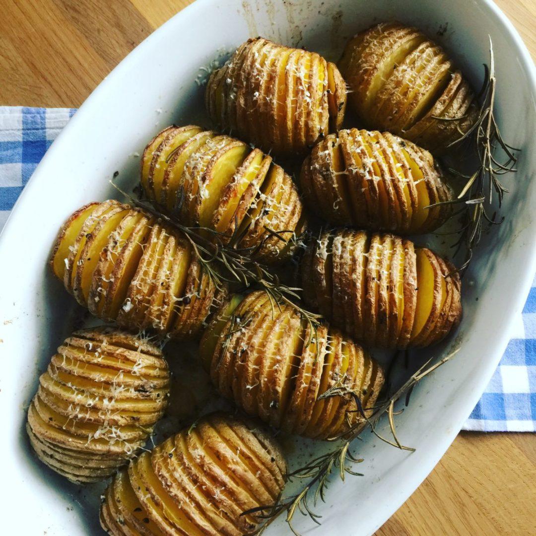 USA-Rezept für Hasselback Potatoes