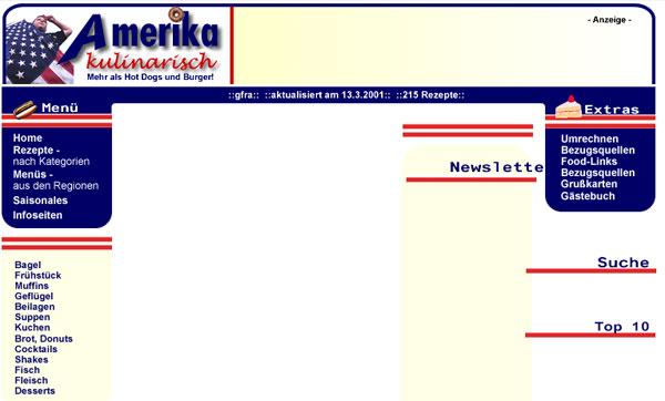 Blogdesign anno 2001