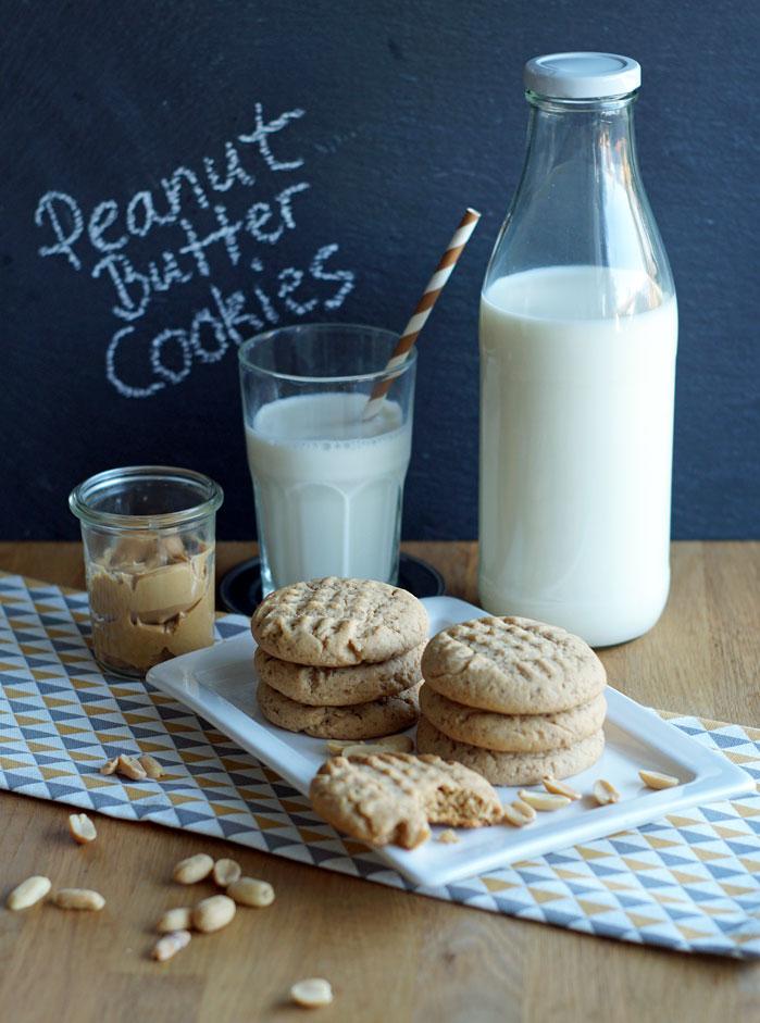 Peanut Butter Cookies (Erdnussbutter-Kekse)