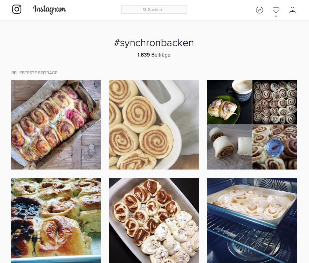 synchronbacken bei Instagram
