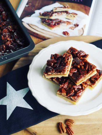 Rezept für Caramel Pecan Bars aus den USA