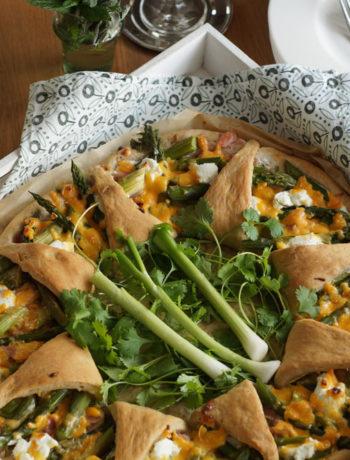 Rezept für Asparagus and ham crown (Gemüsekuchen mit Spargel)