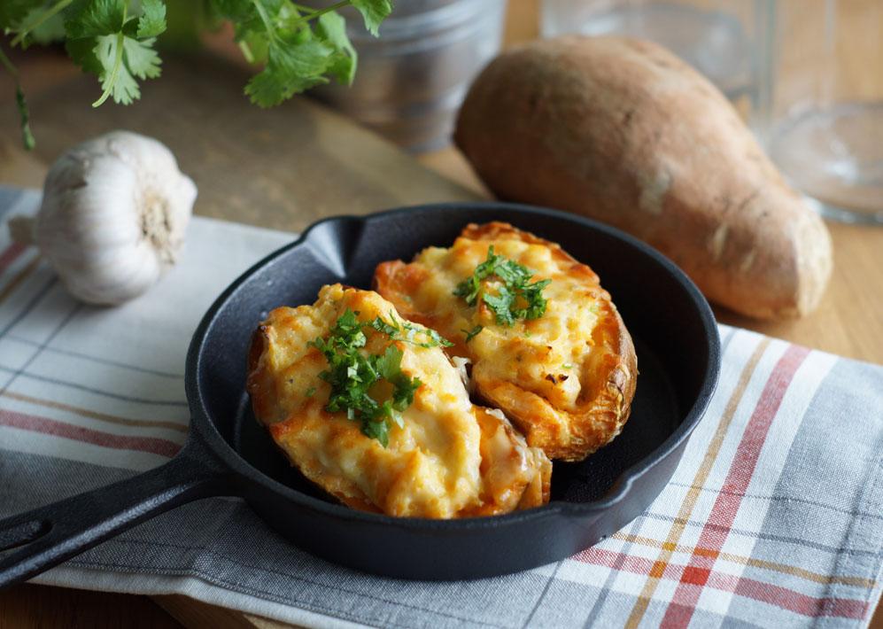 Baked Sweet Potato - überbackene Süßkartoffeln