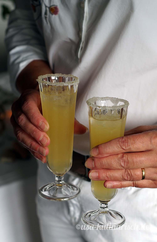 White Wine Margarita mit Barefoot Wine Chardonnay