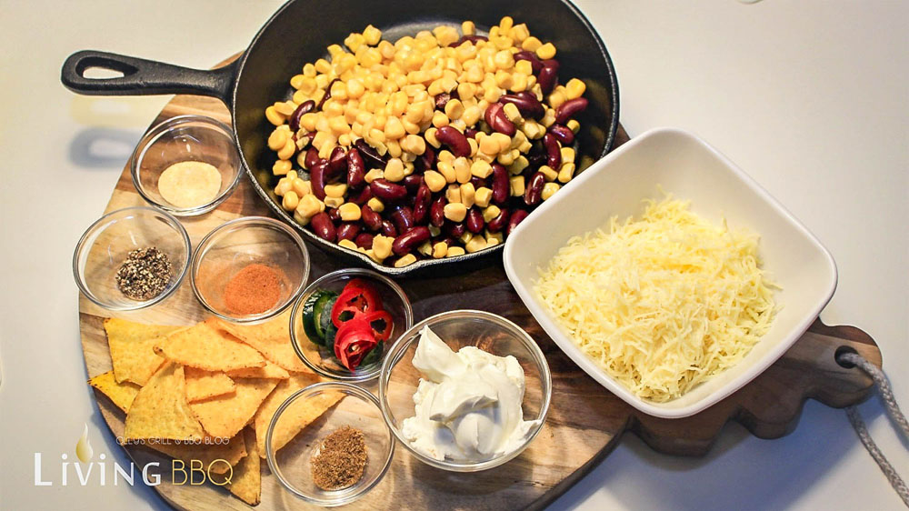 Die Zutaten für den Corn Dip