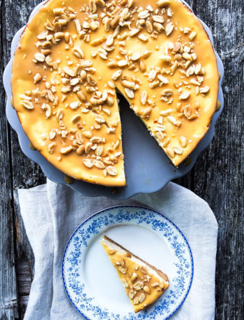 Rezept für Peanut Butter Cheesecake / Erdnussbutter-Käsekuchen