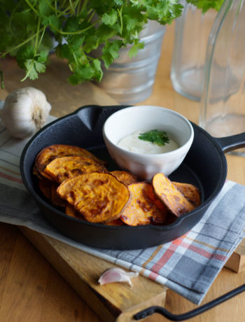 Rezept für Sweet Potat Chips / Süßkartoffel-Chips