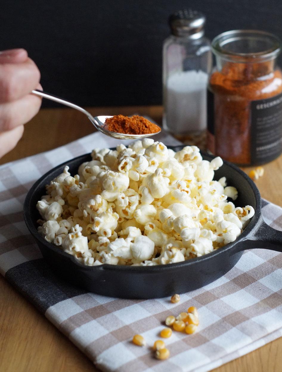 Popcorn mit Gewürz