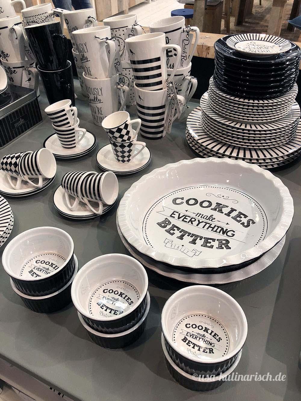 Typographie auf Geschirr