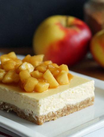 Apple Pie Cheesecake - Käsekuchen mit Apfel