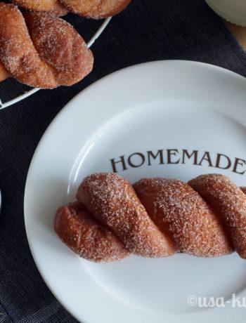 Rezept für Cinnamon Twists zum Donutday 2018
