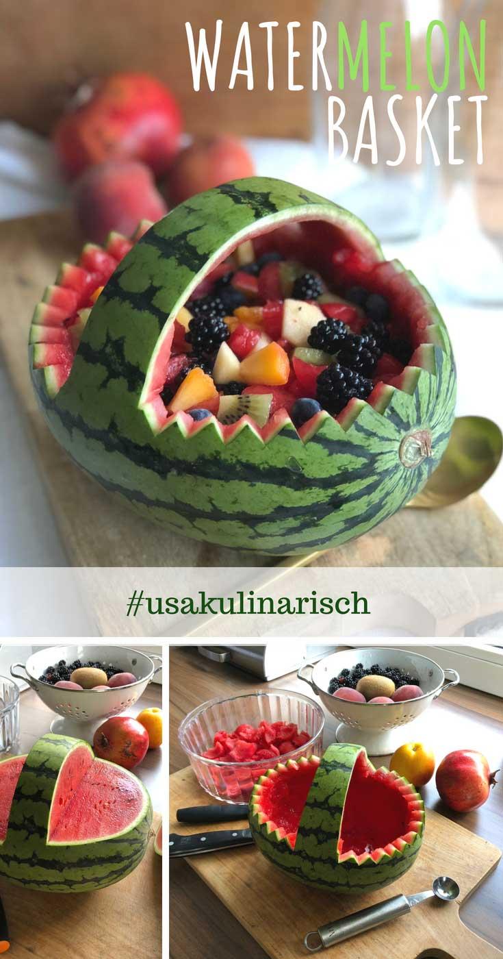 Wassermelonenkorb - Anleitung Schritt für Schritt