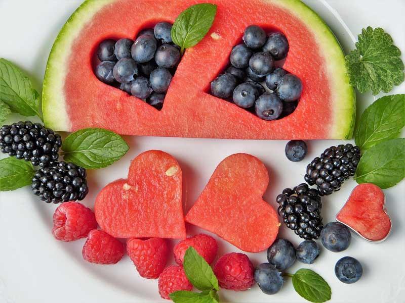 Wassermelone mit Obst