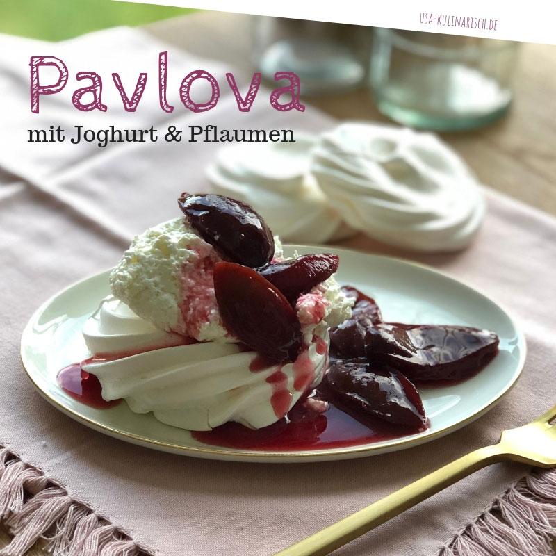 Pavlova mit Pfalumen