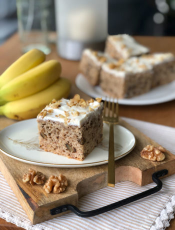 Banana Bread with Cream Cheese Icing