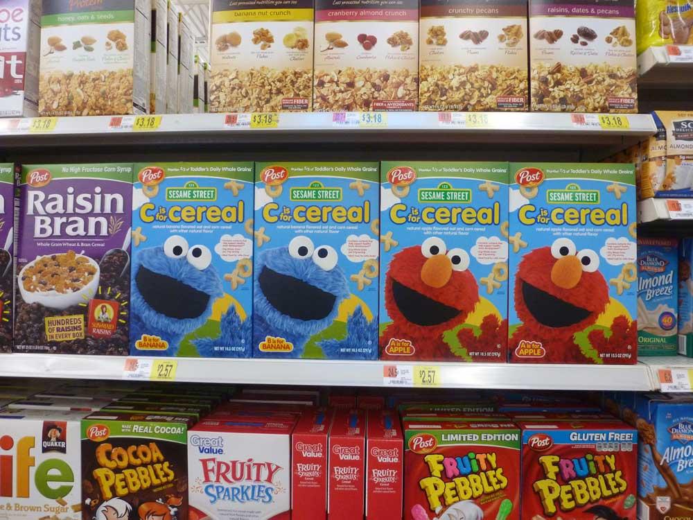 Cereals im US Supermarkt