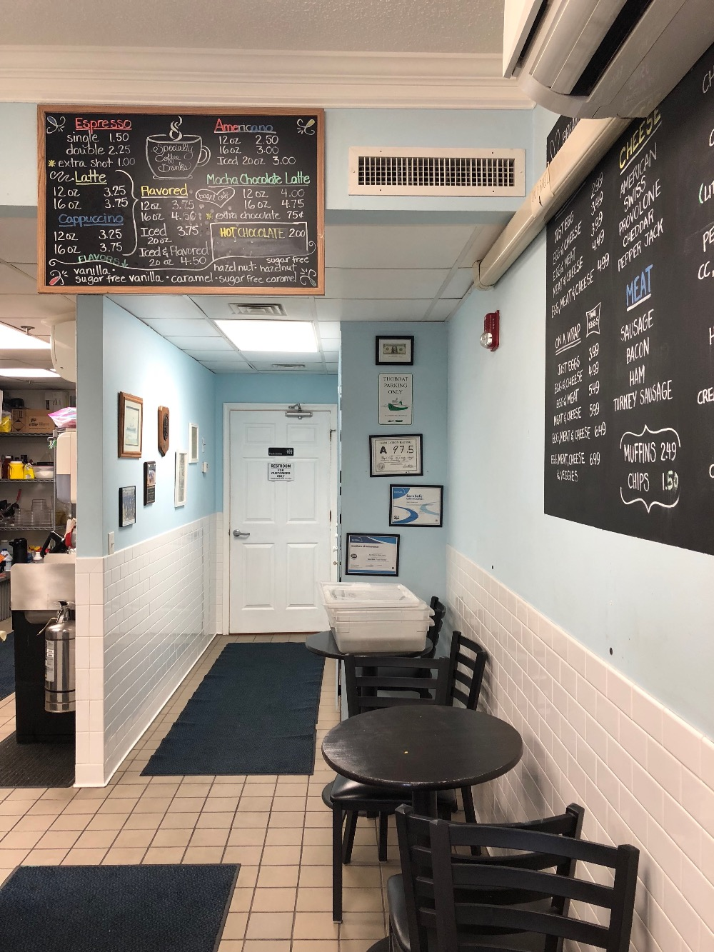typischer coffeeshop in Wilmington