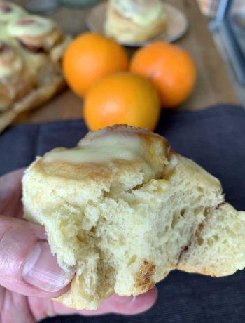 Orangen-Zimtschnecken
