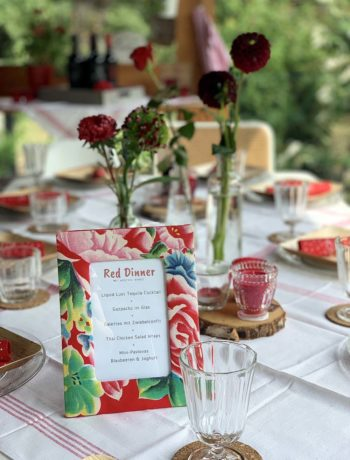 Red Dinner for friends - USA-Mottoabend