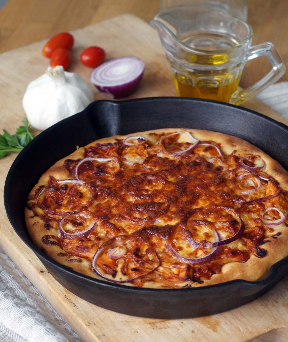 BBQ Chicken Pizza wie bei Pizza Hut