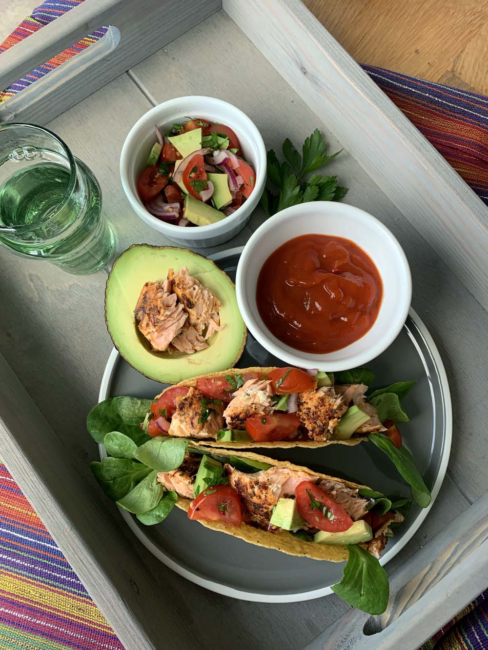 Tacos mit blackened Salmon / TexMex-Rezept