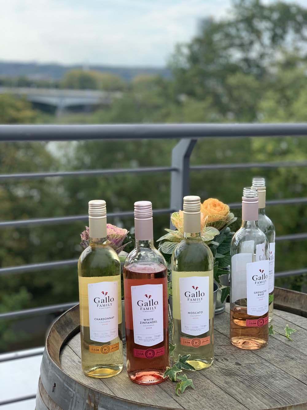 Gallo Wein auf der Chefkoch Dachterrasse