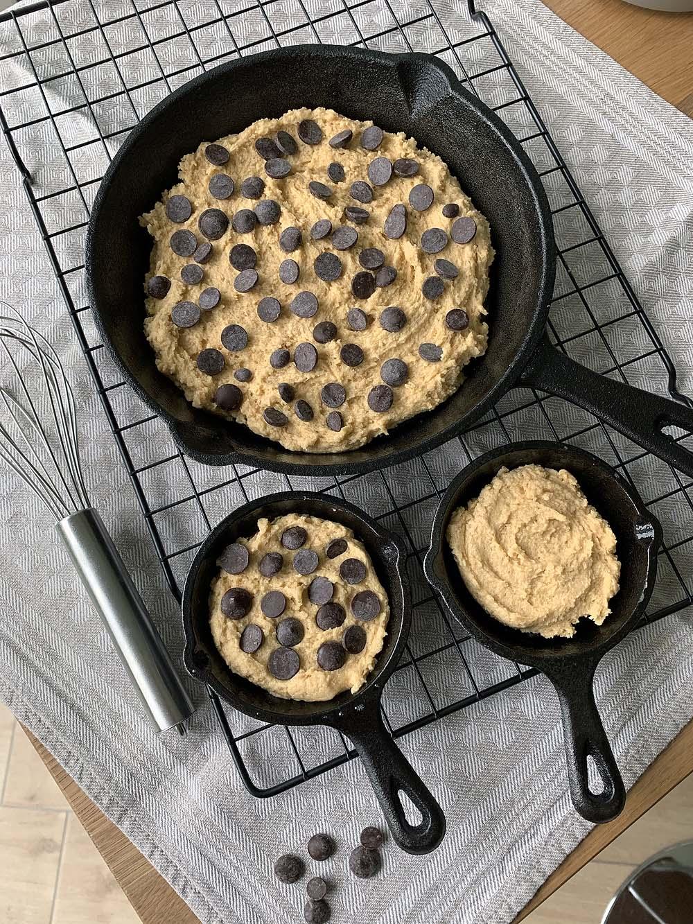 Die ungebackenen Skillet Cookies