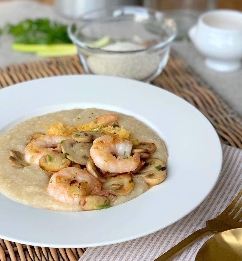 Aus den USA Südstaaten: Shrimp und Grits