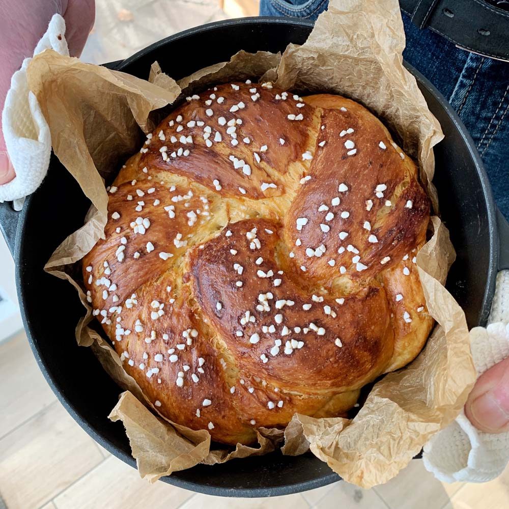 Challah - traditionelles jüdisches Hefebrot
