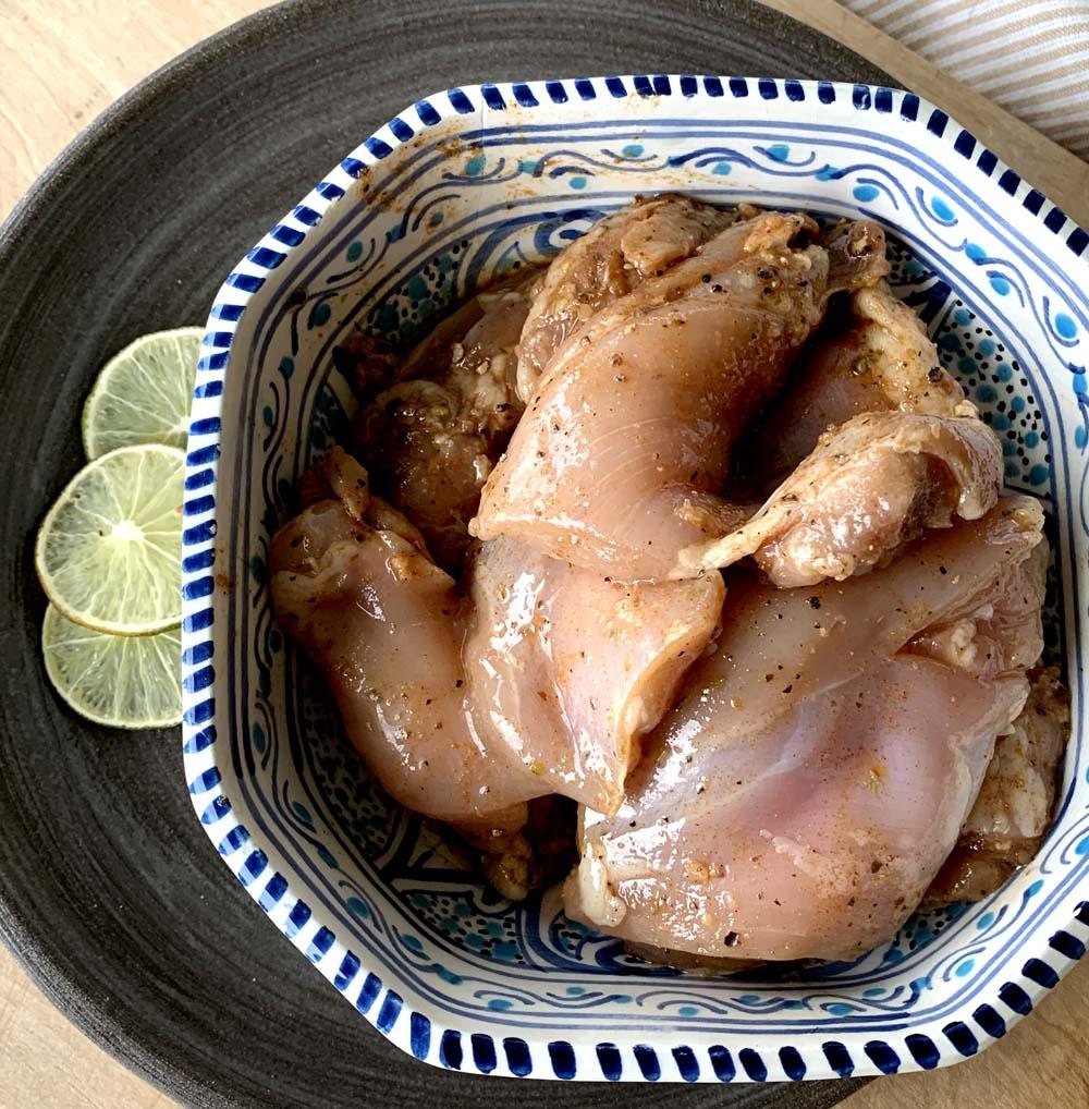 Mariniertes Hühnchenfleisch für Burrito Bowls