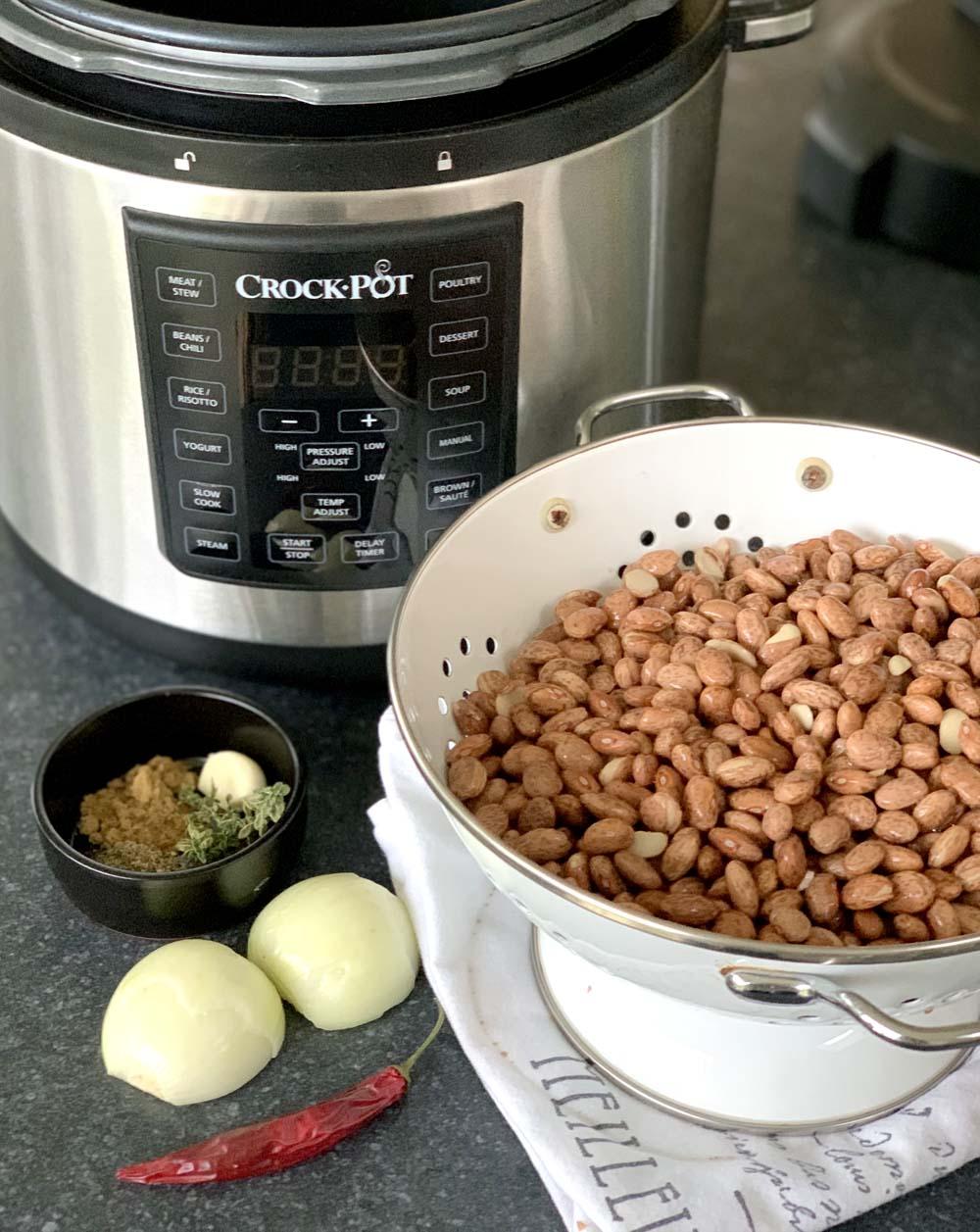 Kochen von Refried Beans im Instant Pot / Crock-Pot Express