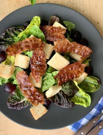 Rezept für Candied Bacon Salad aus den USA